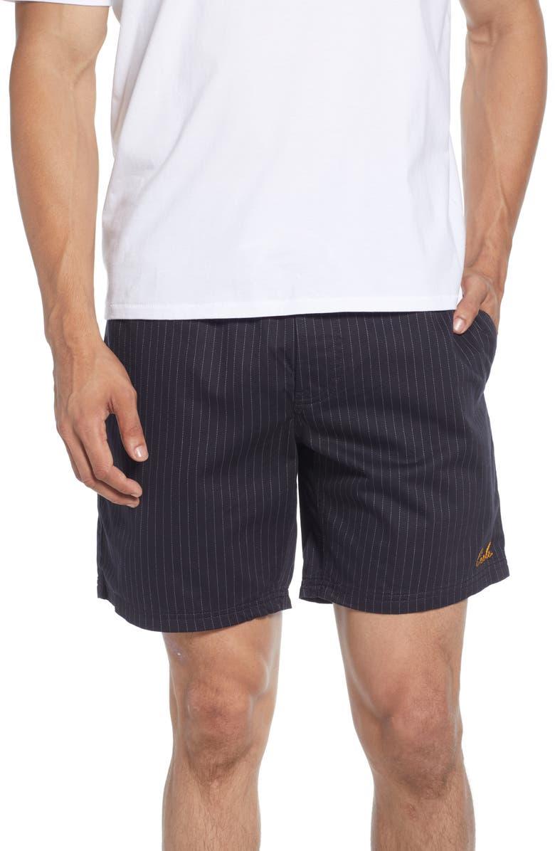 BARNEY COOLS Poolside Pinstripe Drawstring Shorts, Main, color, NAVY STRIPE