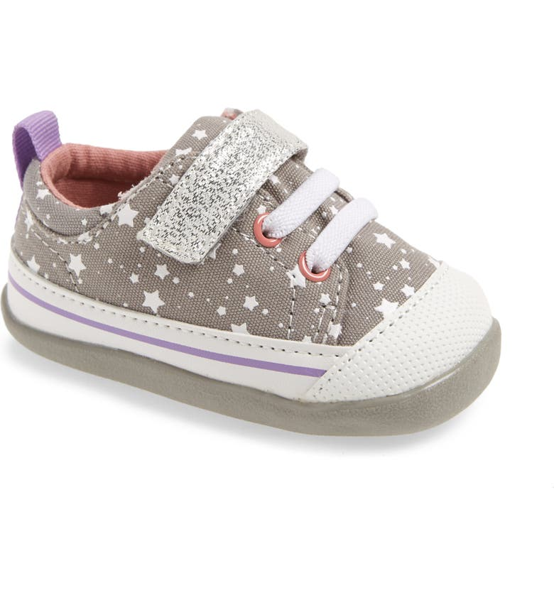 SEE KAI RUN Stevie II Glitter Sneaker, Main, color, GRAY STARS
