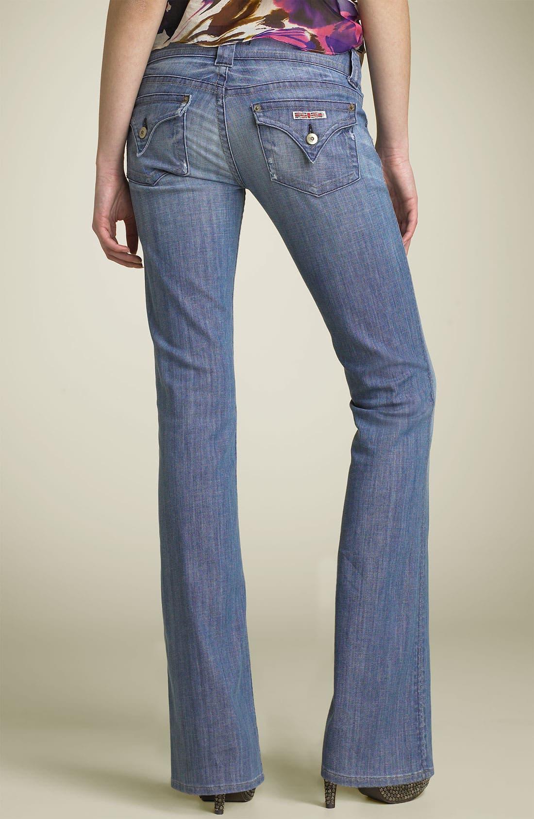 ,                             Signature Flap Pocket Bootcut Jeans,                             Alternate thumbnail 77, color,                             478