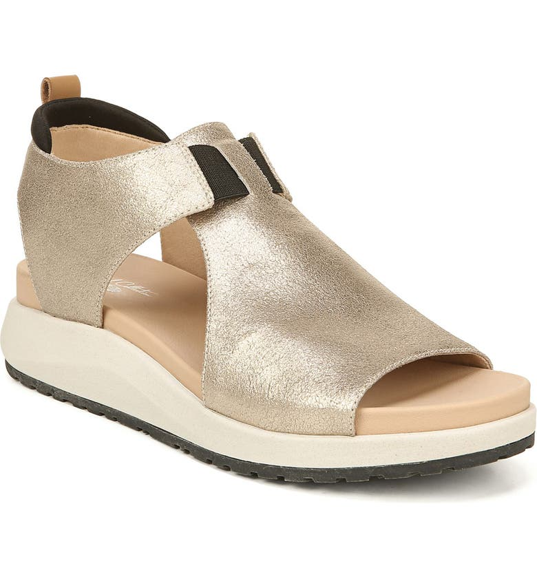 DR. SCHOLL'S Rocco Sandal, Main, color, CHAMPAGNE LEATHER