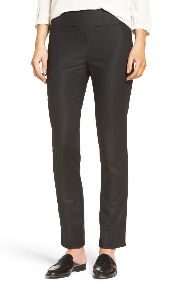 NIC+ZOE The Perfect Slim Ankle Pants, Main, color, BLACK ONYX