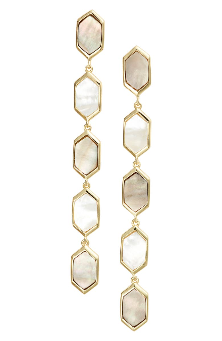 Mother Of Pearl Linear Drop Earrings by Argento Vivo