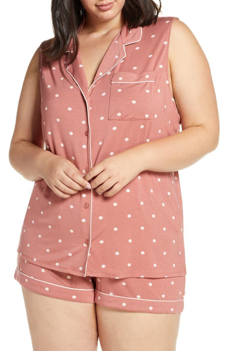 NORDSTROM LINGERIE Moonlight Short Pajamas, Main, color, PINK CANYON/ PINK VEIL ROSE