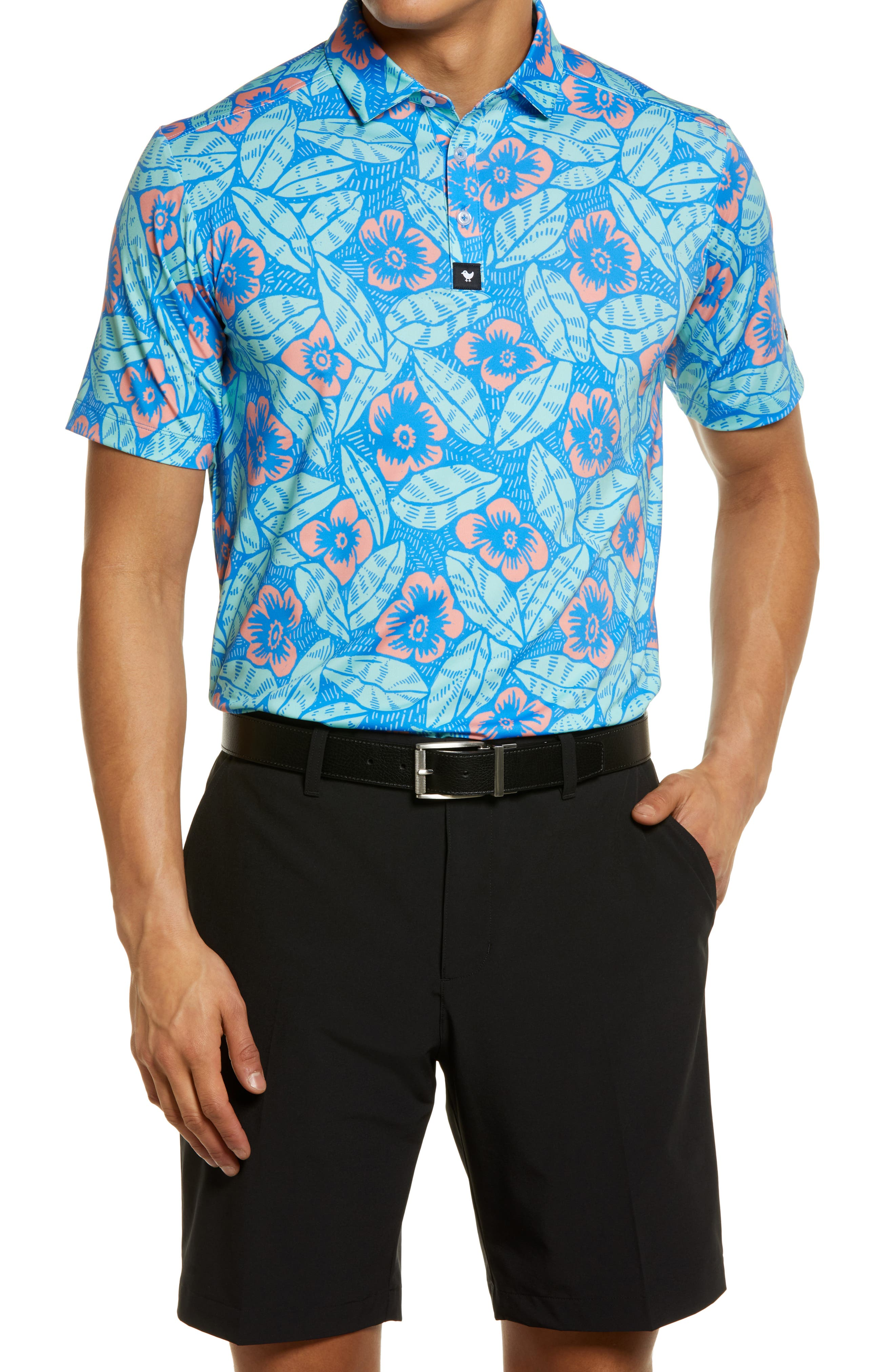 Marco Brolo Floral Short Sleeve Polo