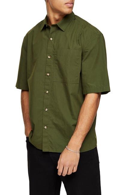 Image of TOPMAN Oversize Short Sleeve Button-Up Shirt