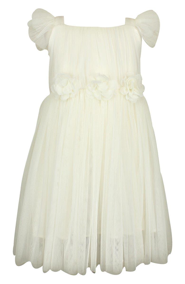 POPATU Flutter Sleeve Tulle Dress, Main, color, CREAM