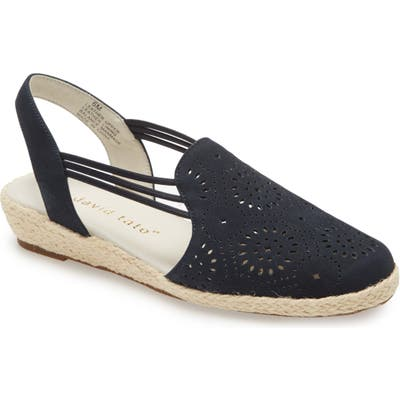 David Tate Zena Espadrille Wedge, WW - Blue