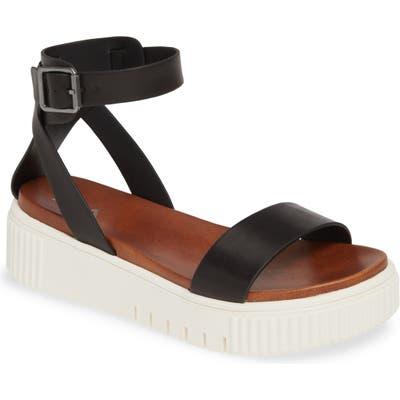 Mia Lunna Platform Ankle Strap Sandal, Black