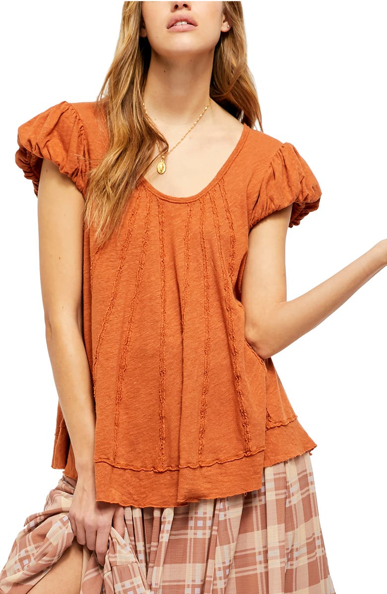 FREE PEOPLE New Star Distressed Stripe Top, Main, color, LIONS MAINE