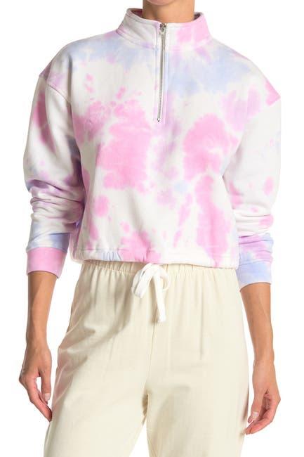 Image of ROW A Tie Dye Drawstring Hem Sweater