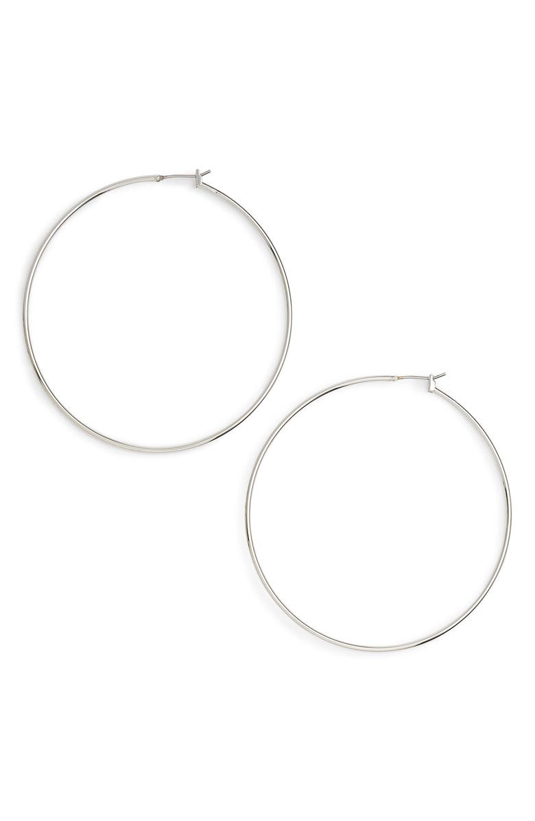 HALOGEN<SUP>®</SUP> Classic Thin Hoop Earrings, Main, color, 040