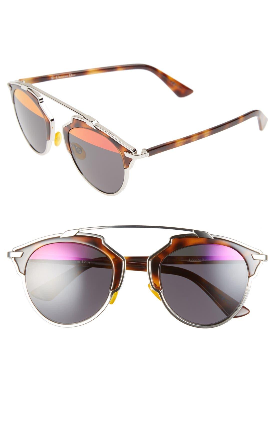 ,                             So Real 48mm Brow Bar Sunglasses,                             Main thumbnail 31, color,                             042