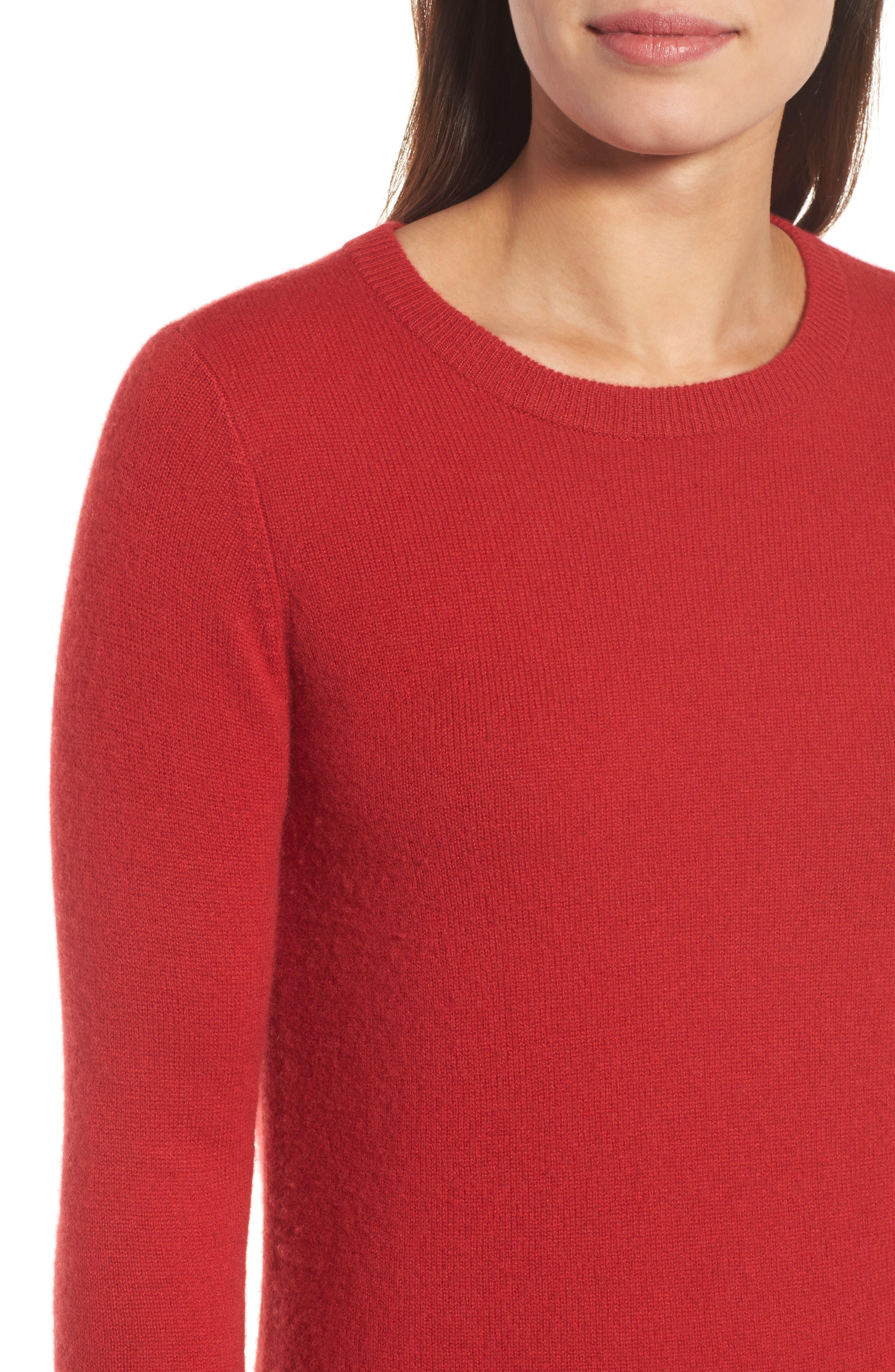 ,                             Crewneck Cashmere Sweater,                             Alternate thumbnail 137, color,                             600