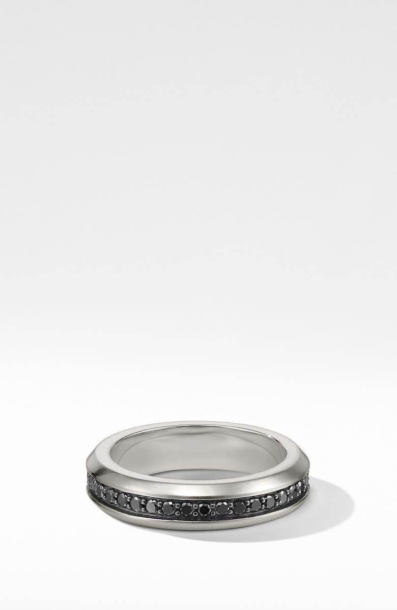 DAVID YURMAN Streamline Band Ring with Black Diamonds, Main, color, BLACK DIAMOND