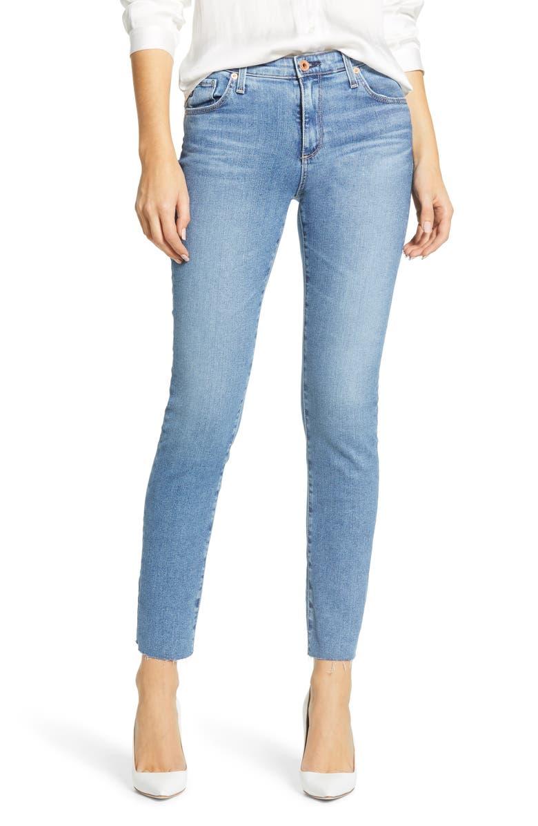 AG The Prima Raw Hem Ankle Cigarette Jeans, Main, color, PRECISION