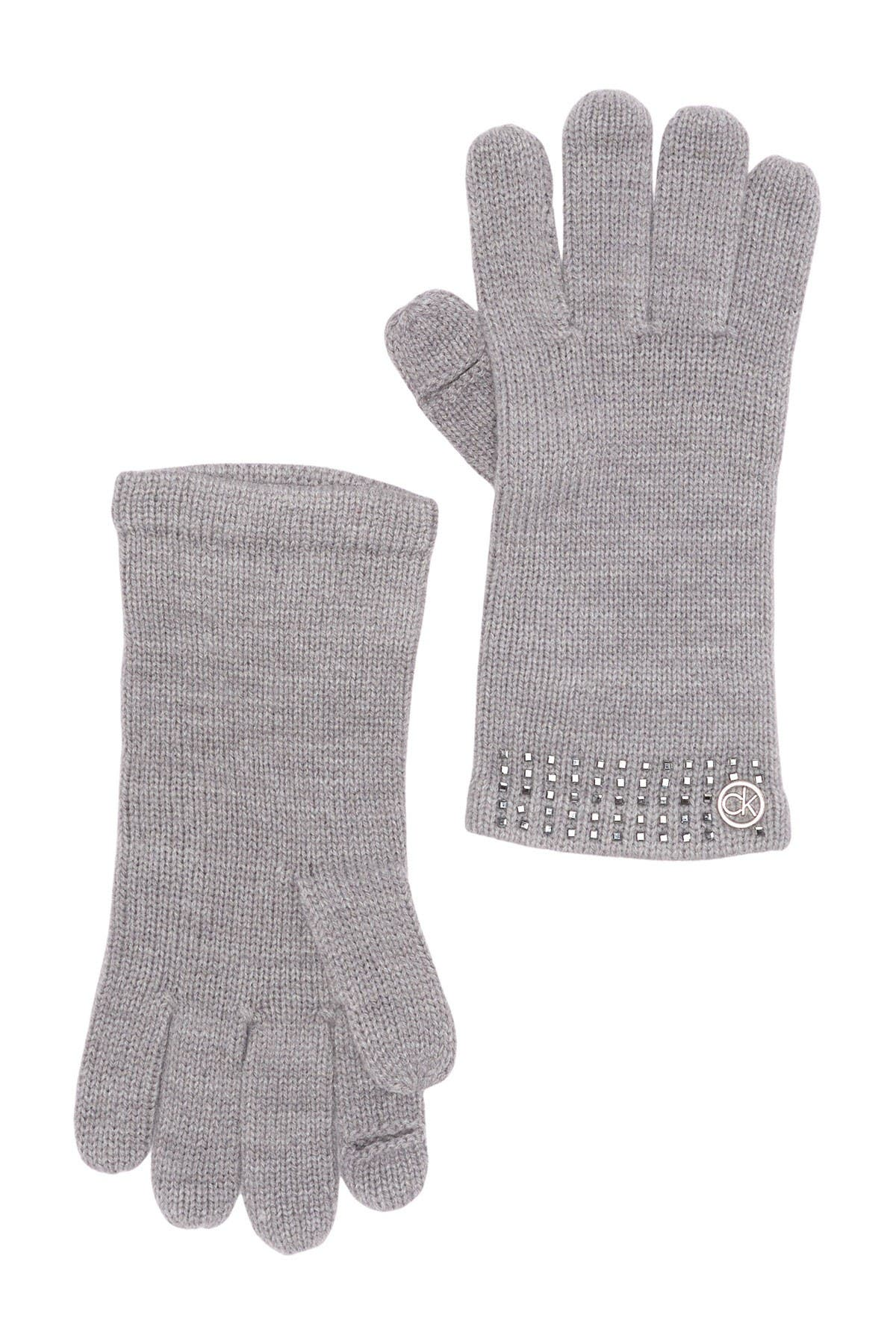 Image of Calvin Klein Square Studded Gloves