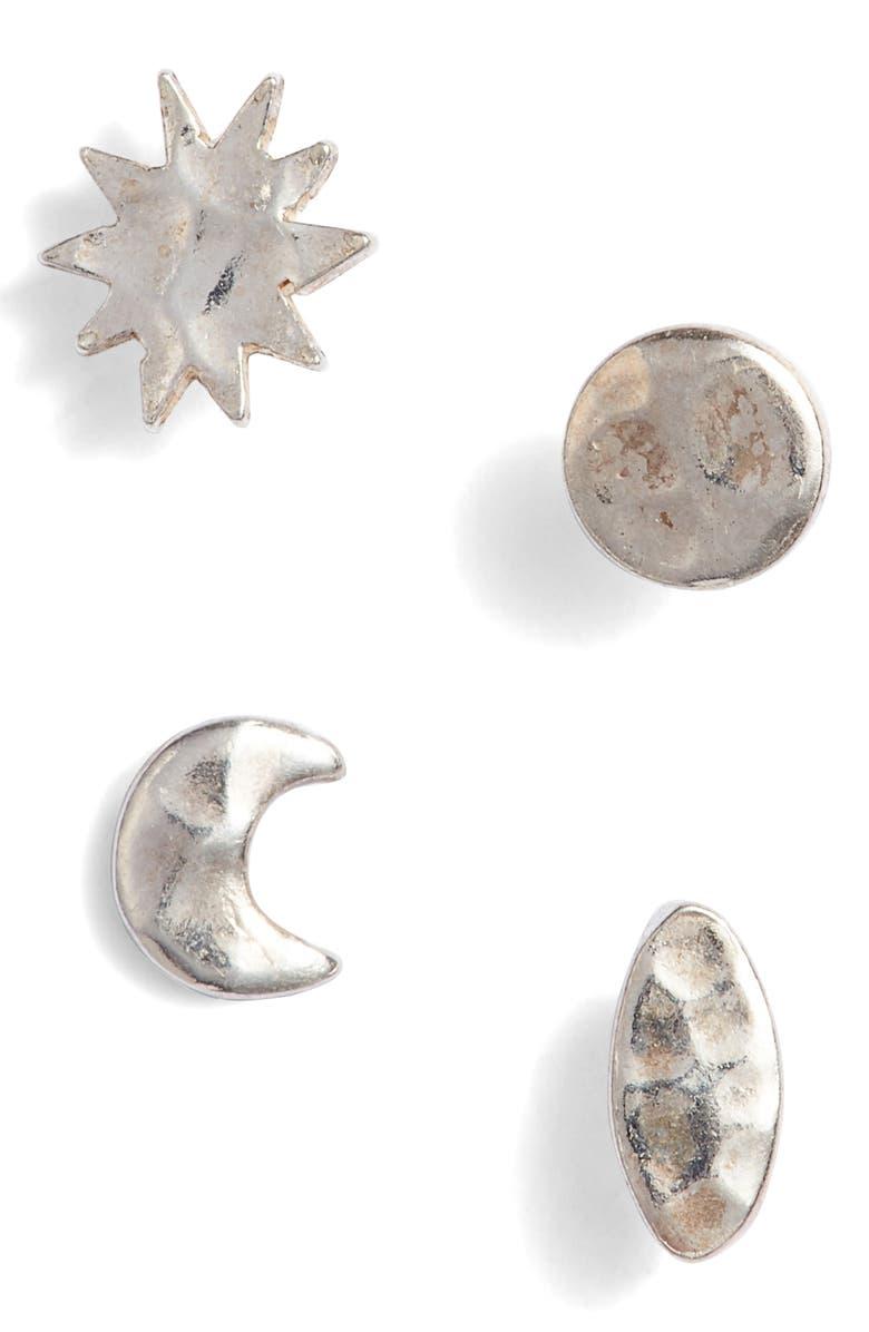 ARGENTO VIVO Celestial Stud Earrings Set, Main, color, 040