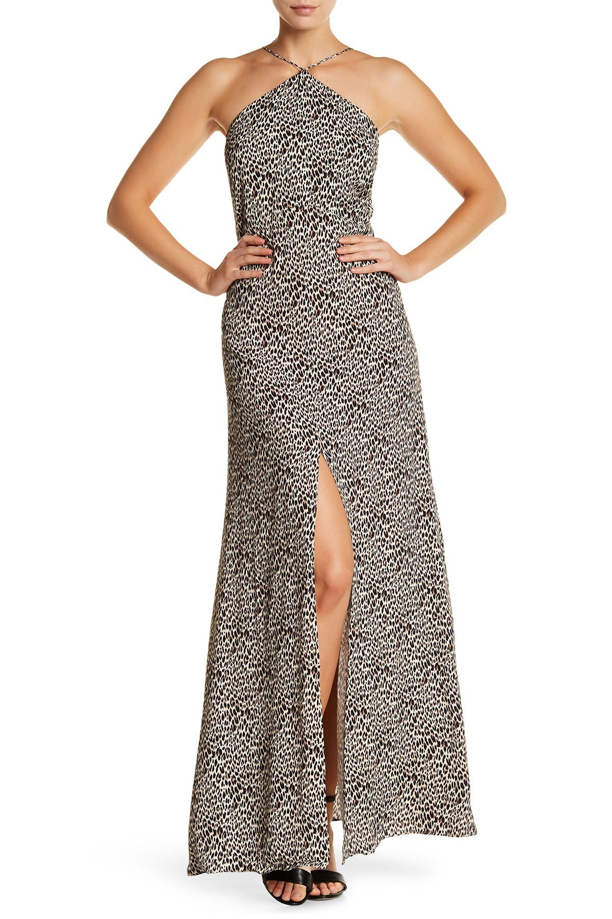 Image of Arrive Halter Open Back Maxi Dress
