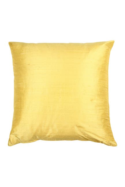 Image of EIGHTMOOD Silk Dupion Throw Pillow - Lemon