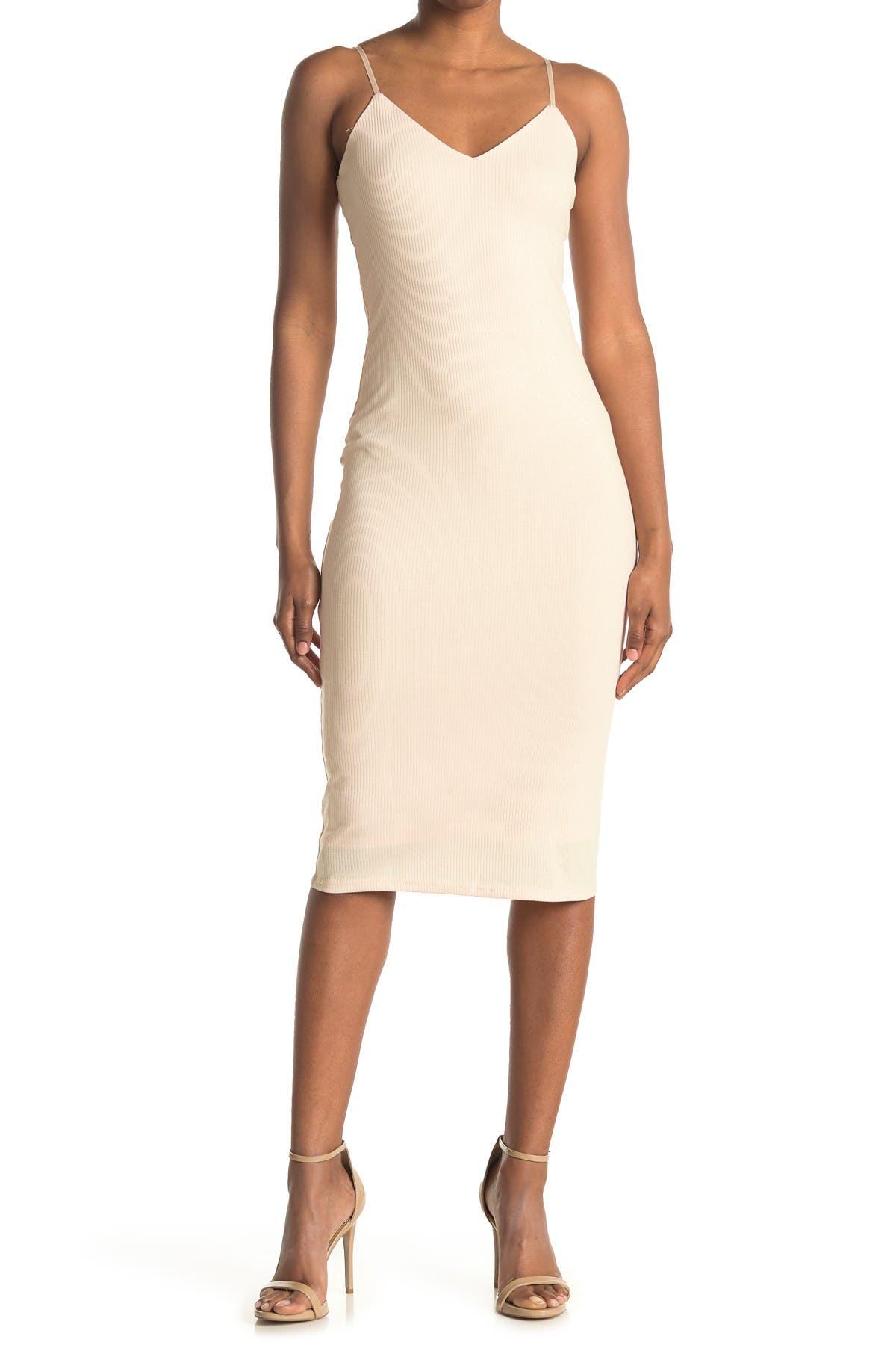 Image of AFRM Fauna Ribbed Midi Dress