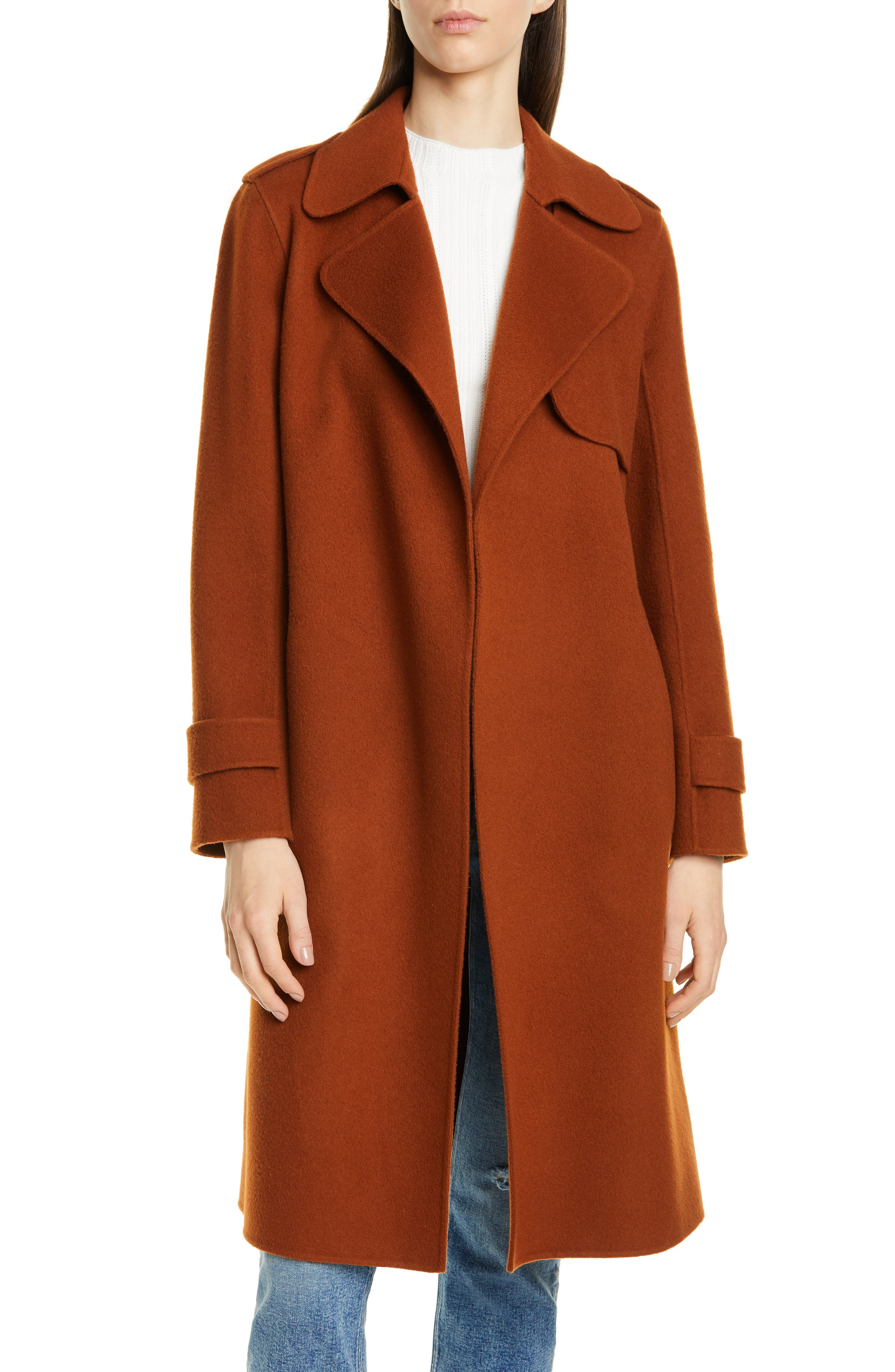 Theory Oaklane Wool & Cashmere Wrap Coat