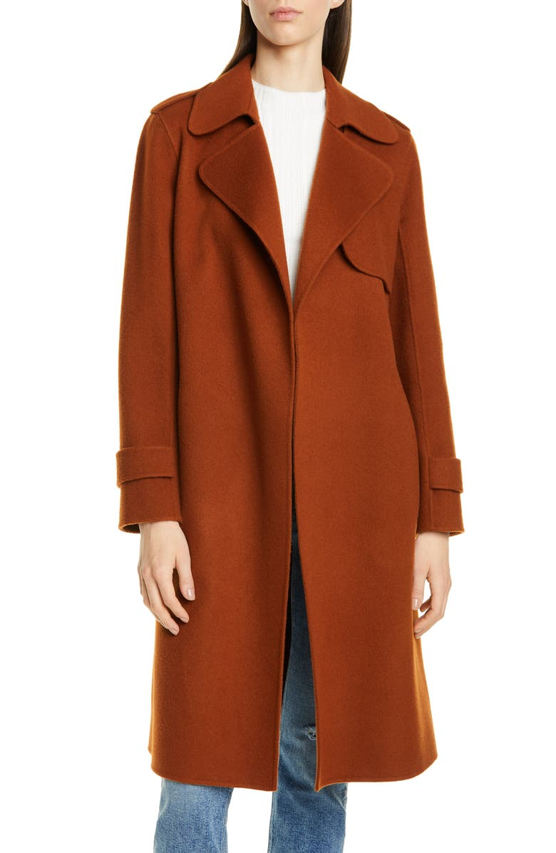 Oaklane Wool & Cashmere Wrap Coat by Theory