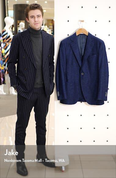 Hyperlight Classic Fit Windowpane Wool & Linen Sport Coat, sales video thumbnail