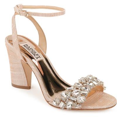 Badgley Mischka Jill Ankle Strap Sandal- Pink