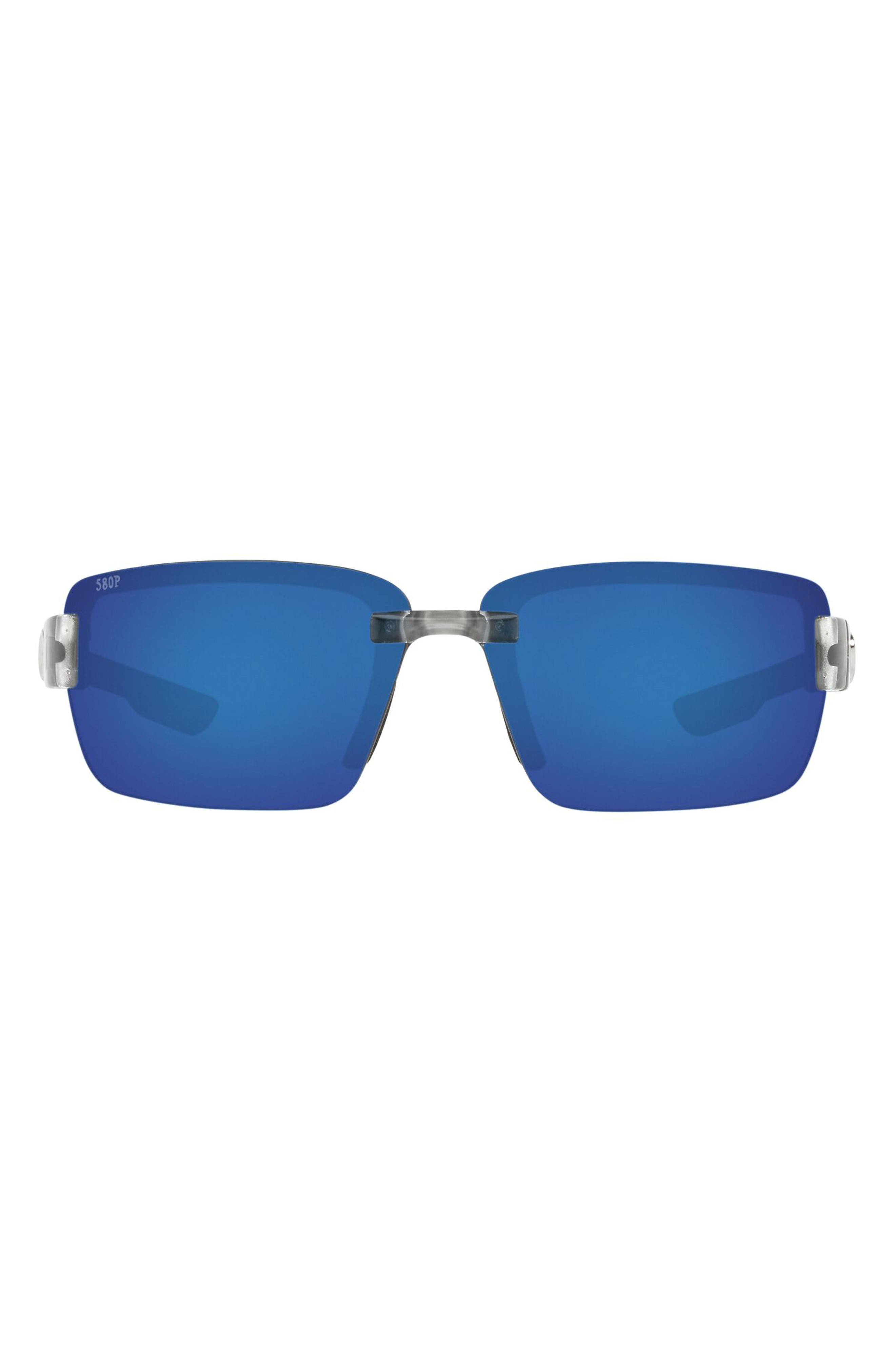 67mm Oversize Rectangular Polarized Sunglasses