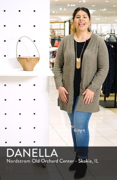 Alice Croc Embossed Leather Bucket Bag, sales video thumbnail