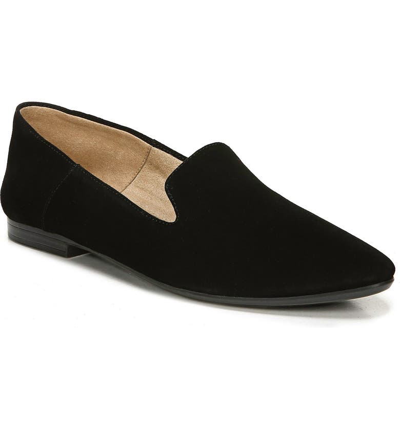 NATURALIZER Lorna Collapsible Heel Loafer, Main, color, BLACK SUEDE