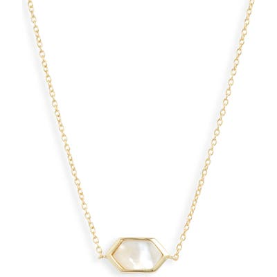 Argento Vivo Hexagon Mother-Of-Pearl Necklace