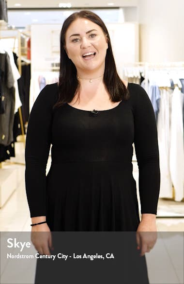 Ribbed V-Neck Cashmere Tunic Sweater, sales video thumbnail