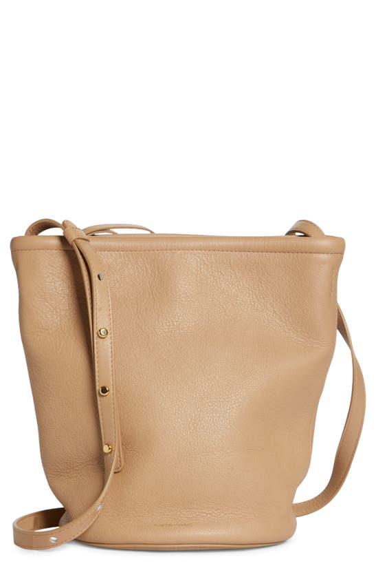 Mansur Gavriel Leather Zip Bucket Bag In Vesuvio