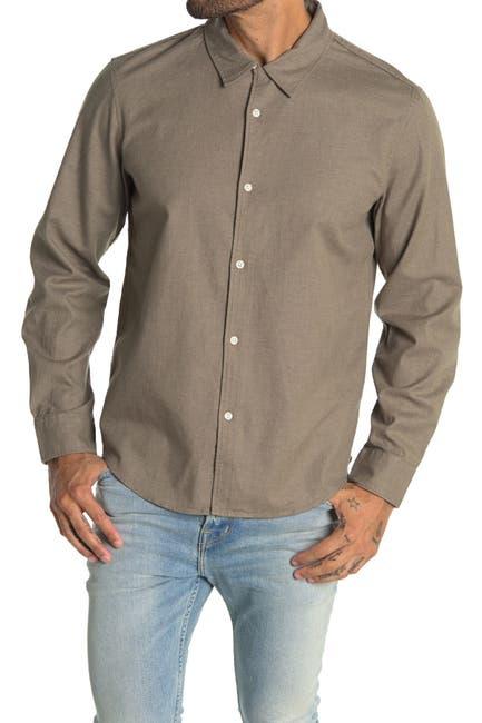 Image of CLUB MONACO Long Sleeve Texture Dress Shirt