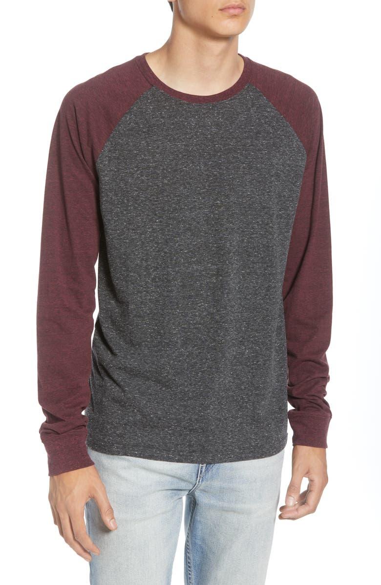 THREADS 4 THOUGHT Triblend Raglan Long Sleeve Crewneck T-Shirt, Main, color, 020