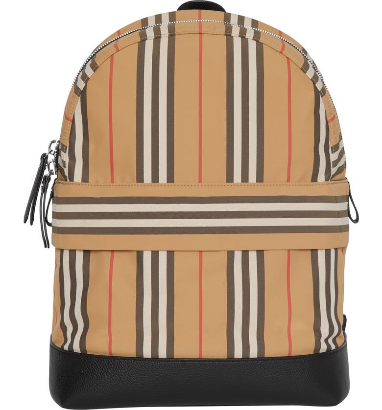 BURBERRY Nico Archive Stripe Backpack, Main, color, 250