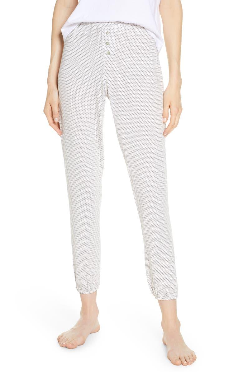 EBERJEY Geo Dots Crop Lounge Pants, Main, color, 400