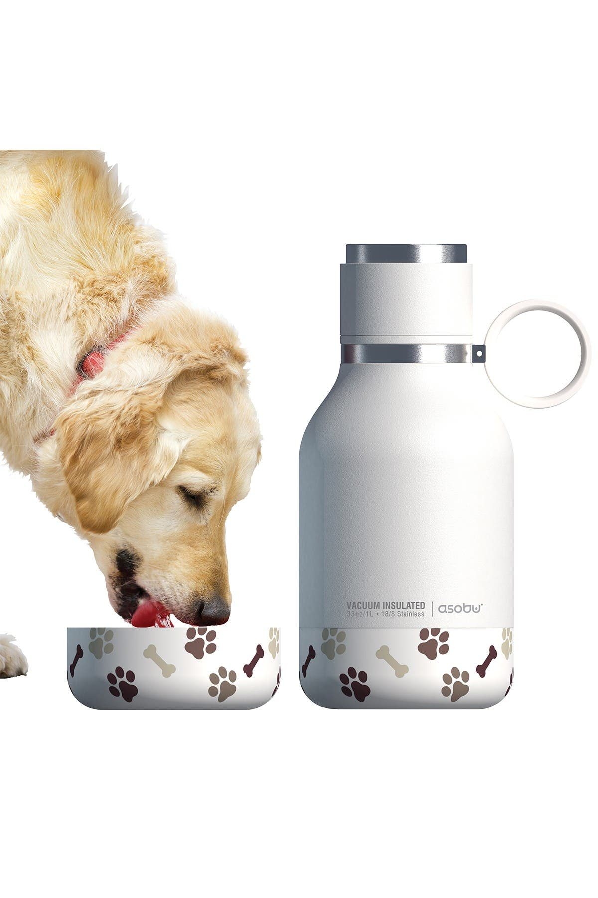 Image of ASOBU Insulated Bottle with Detachable Bowl - White
