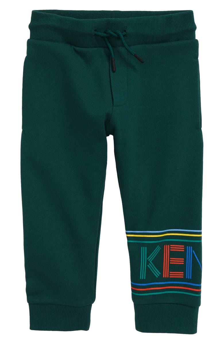 KENZO Logo Sweatpants, Main, color, DARK GREEN