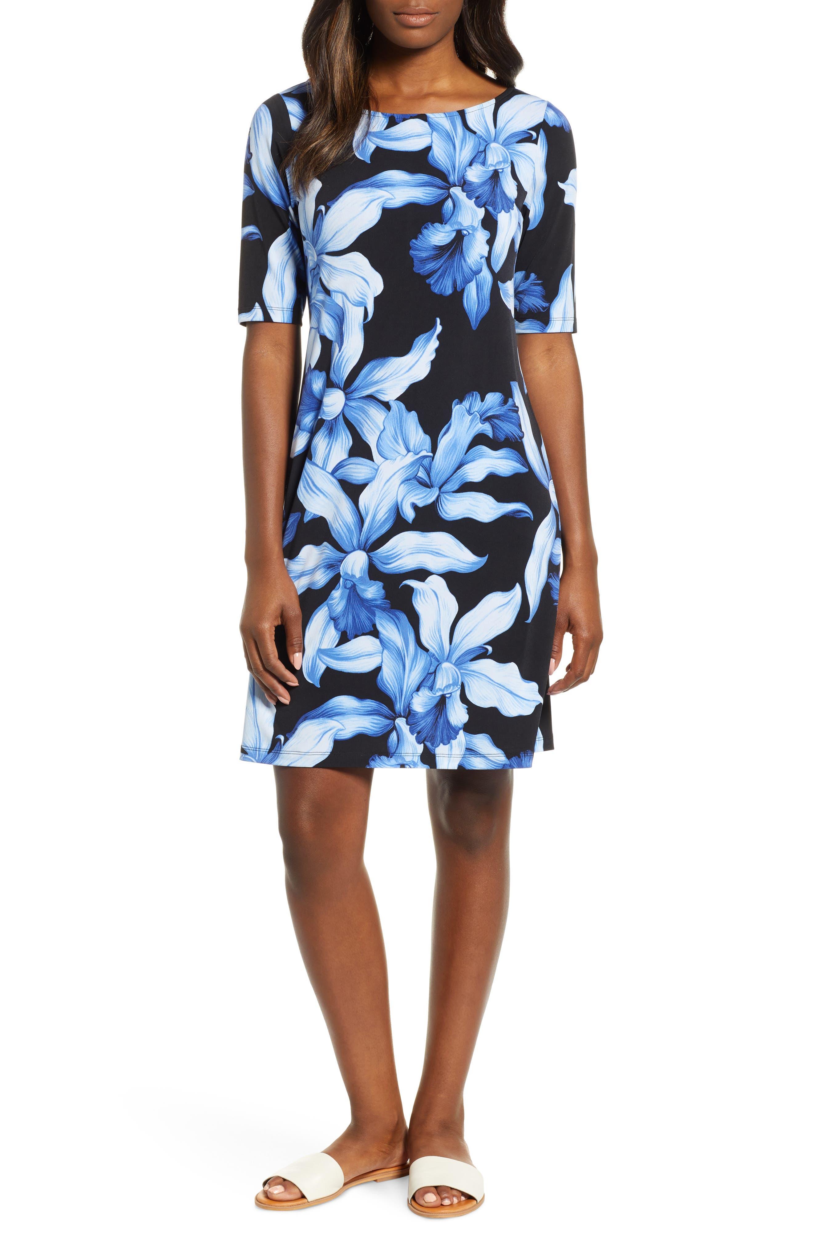Orchid Rua Dress, Main, color, BLACK