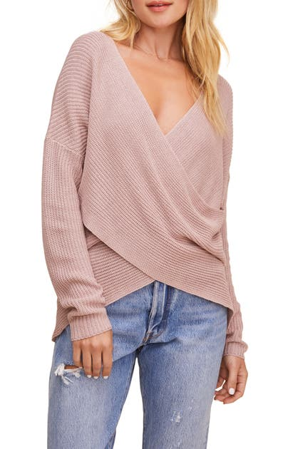 Astr Sweaters WRAP FRONT SWEATER