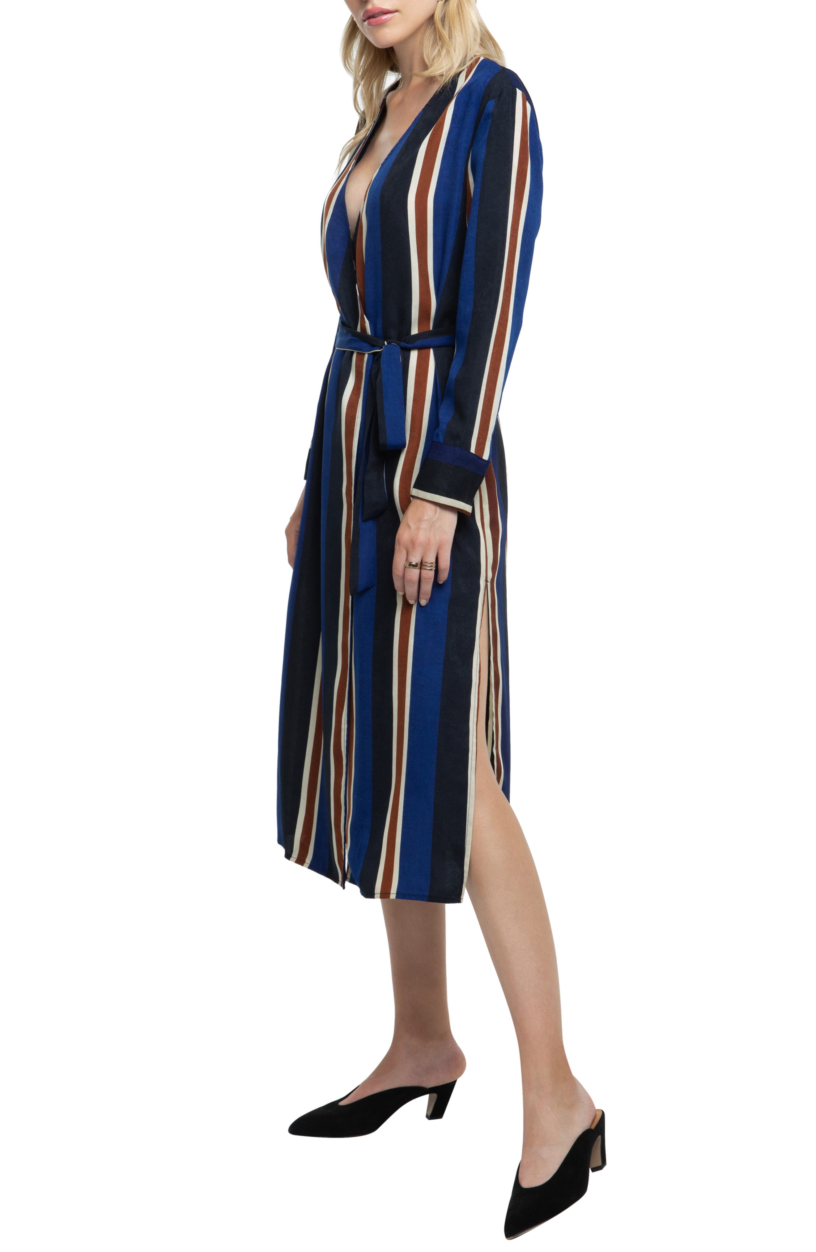 ,                             Stripe Wrap Dress,                             Alternate thumbnail 9, color,                             400