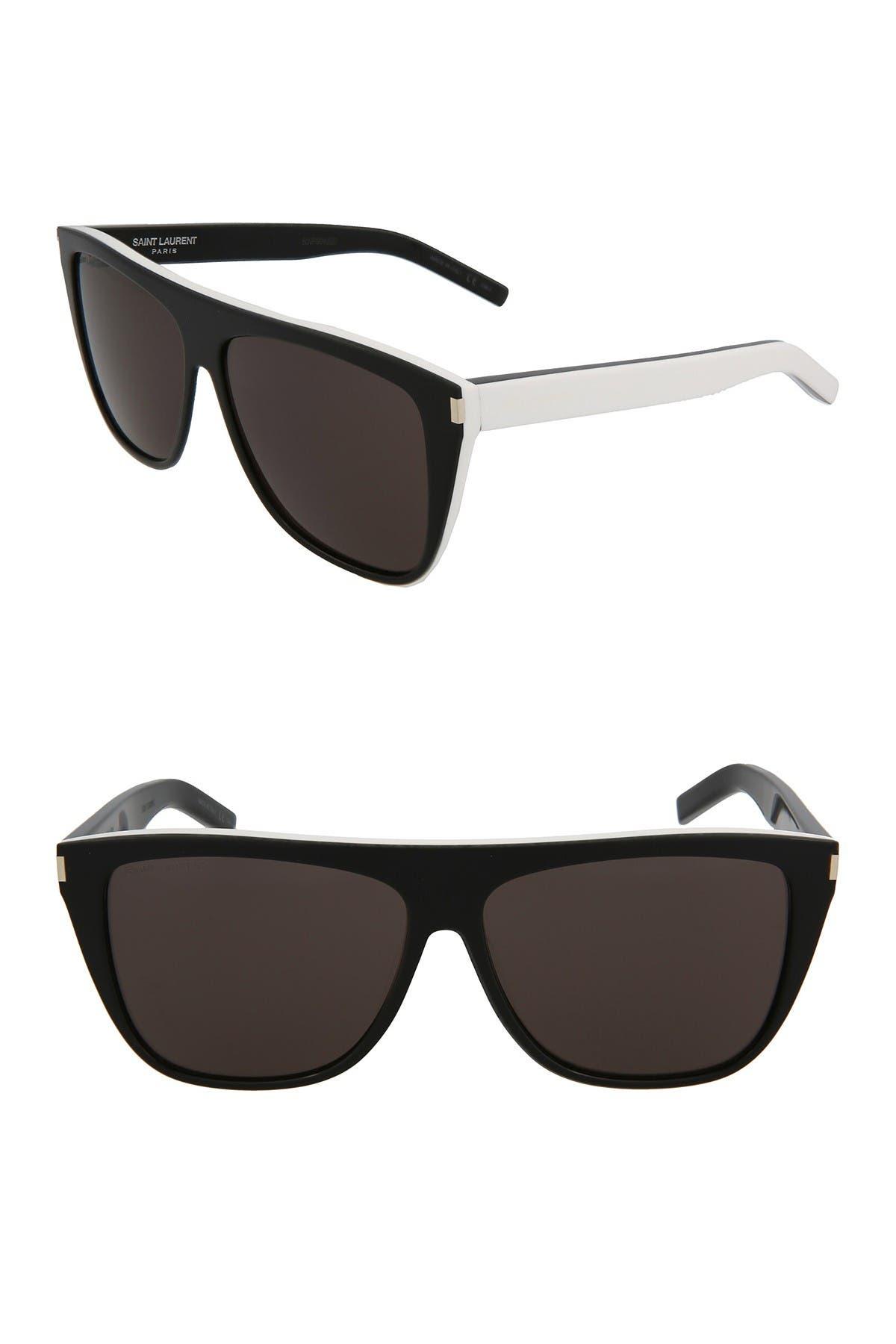 Image of Saint Laurent 59mm Shield Sunglasses