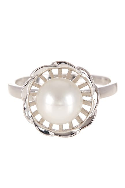 Image of Splendid Pearls Flower Shaped 8-9mm Cultured Freshwater Pearl Ring