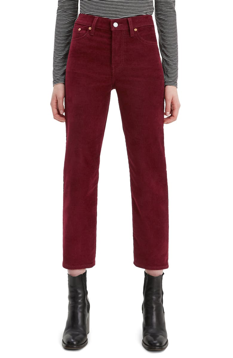 LEVI'S<SUP>®</SUP> Wedgie High Waist Crop Corduroy Jeans, Main, color, SHIRAZ CORDUROY