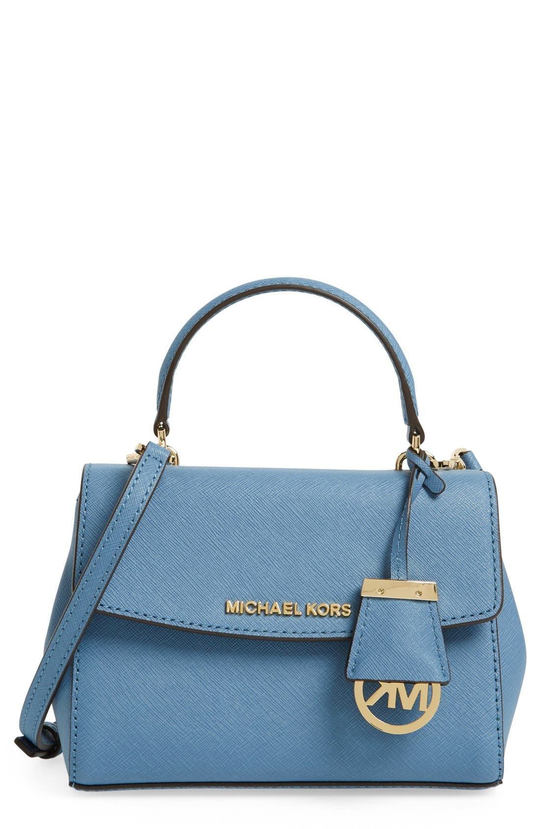 ,                             'Extra Small Ava' Leather Crossbody Bag,                             Main thumbnail 15, color,                             457