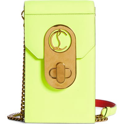 Christian Louboutin Elisa Leather Phone Crossbody Bag - Yellow
