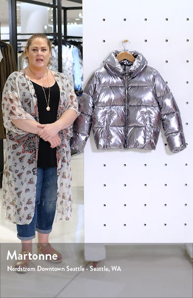 Metallic Puffer Coat, sales video thumbnail