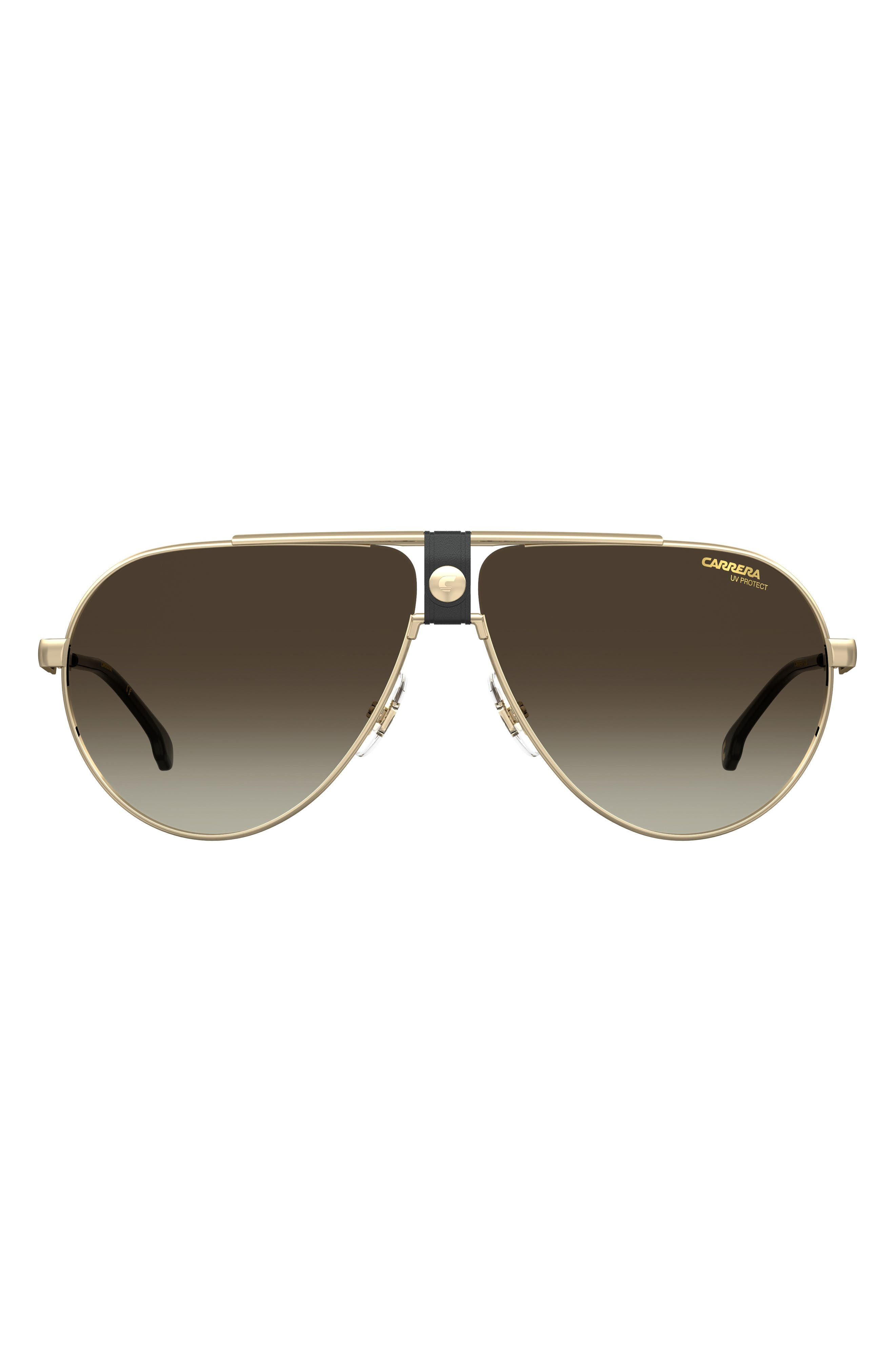 63mm Oversize Gradient Aviator Sunglasses